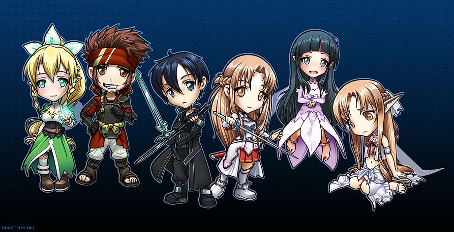 sword art online Sword Art Online Chibi Group by