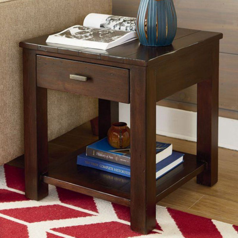 Hammary Reclamation Place Post and Beam End Table 523 917