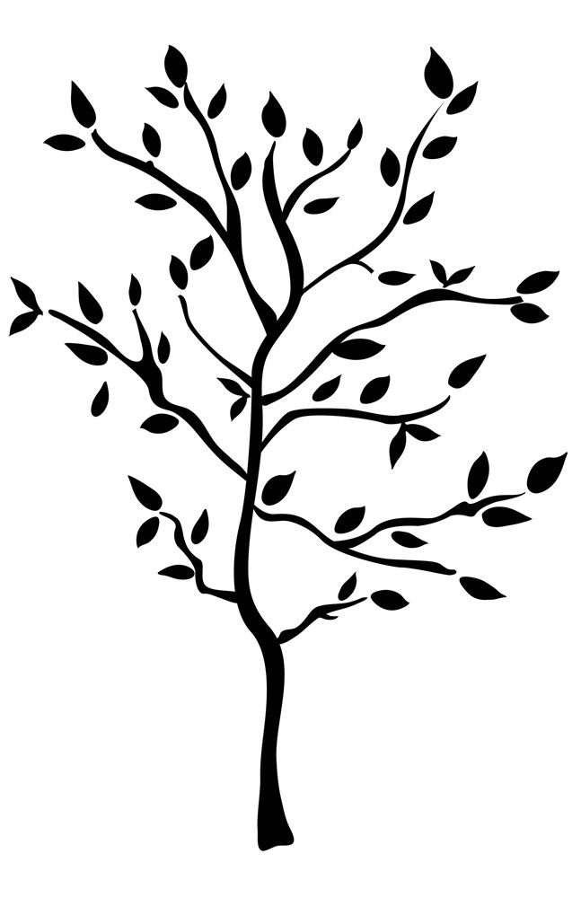 Black Tree Wall Decal | Decals Come On Two (2) Decal Sheets. Decal Part 48