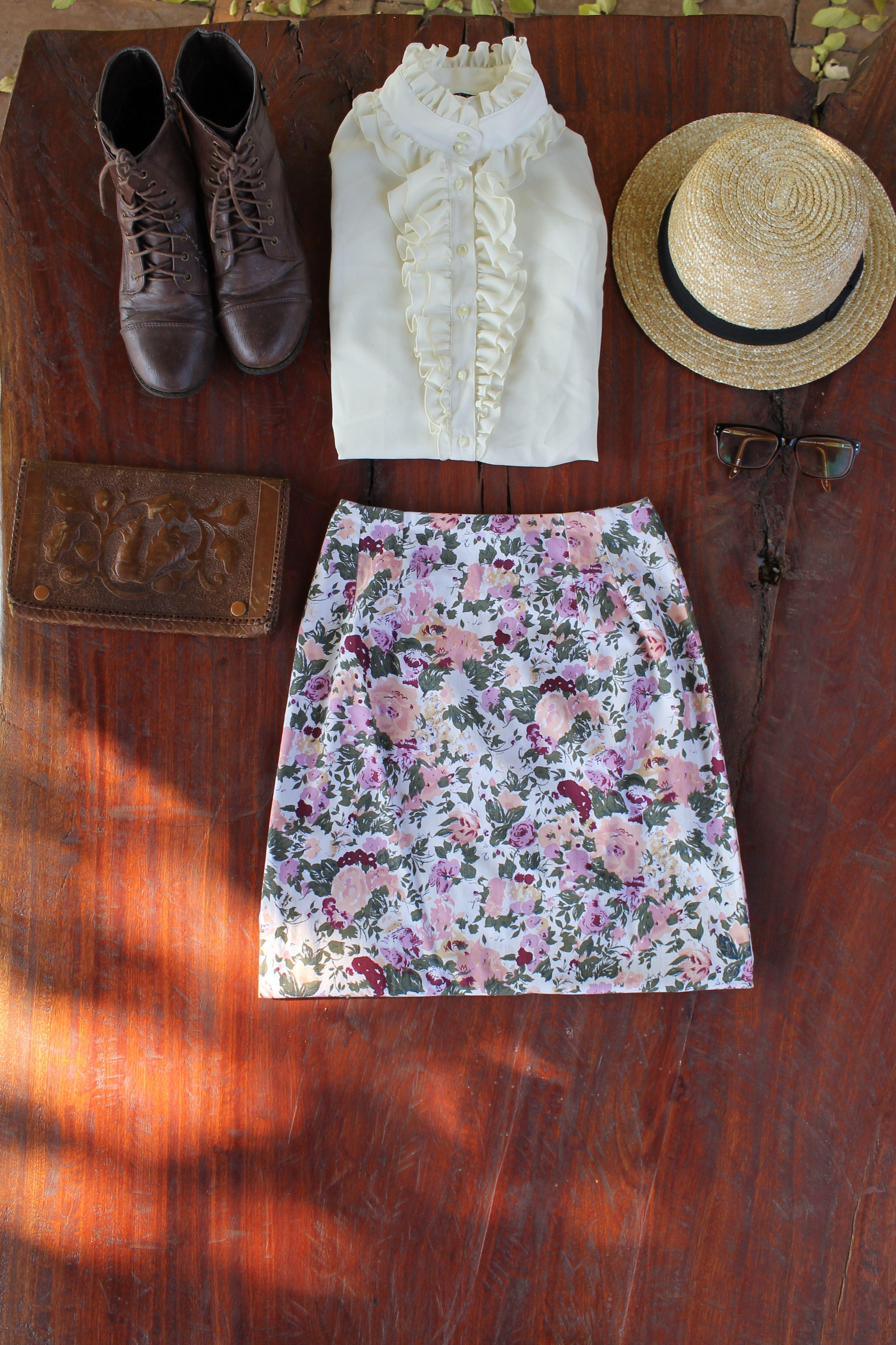 Beautiful silk blouse and maxi dress