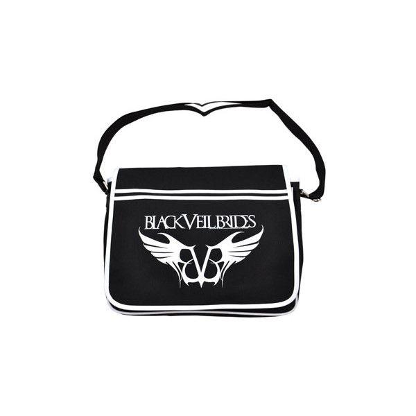 Black Veil Brides Logo Messenger bag, bvb merch, Black Veil Brides UK ($37) ❤ liked on Polyvore featuring bags, messenger bags, black veil brides, bvb, accessories, backpacks, backpack messenger bag, bridal bag, messenger bag and courier bag