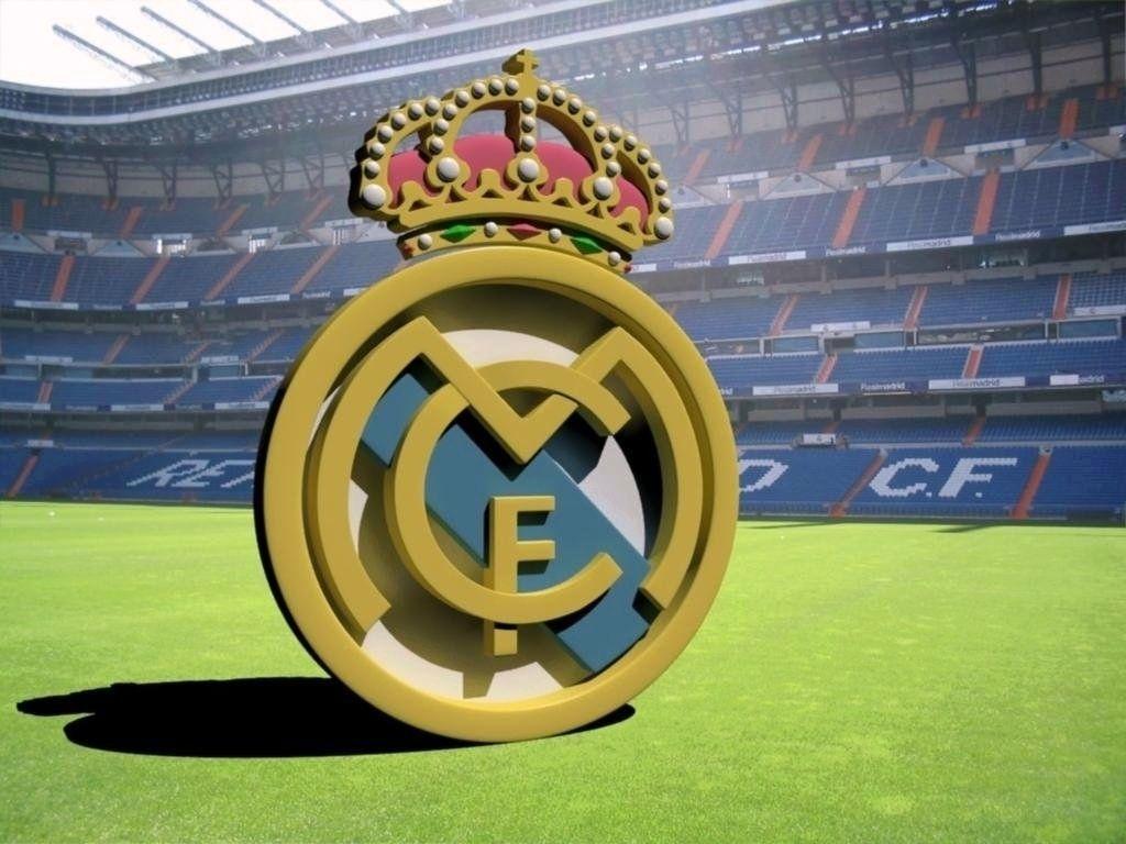 Real Madrid Football Wallpaper Logo in Santiago Bernabéu