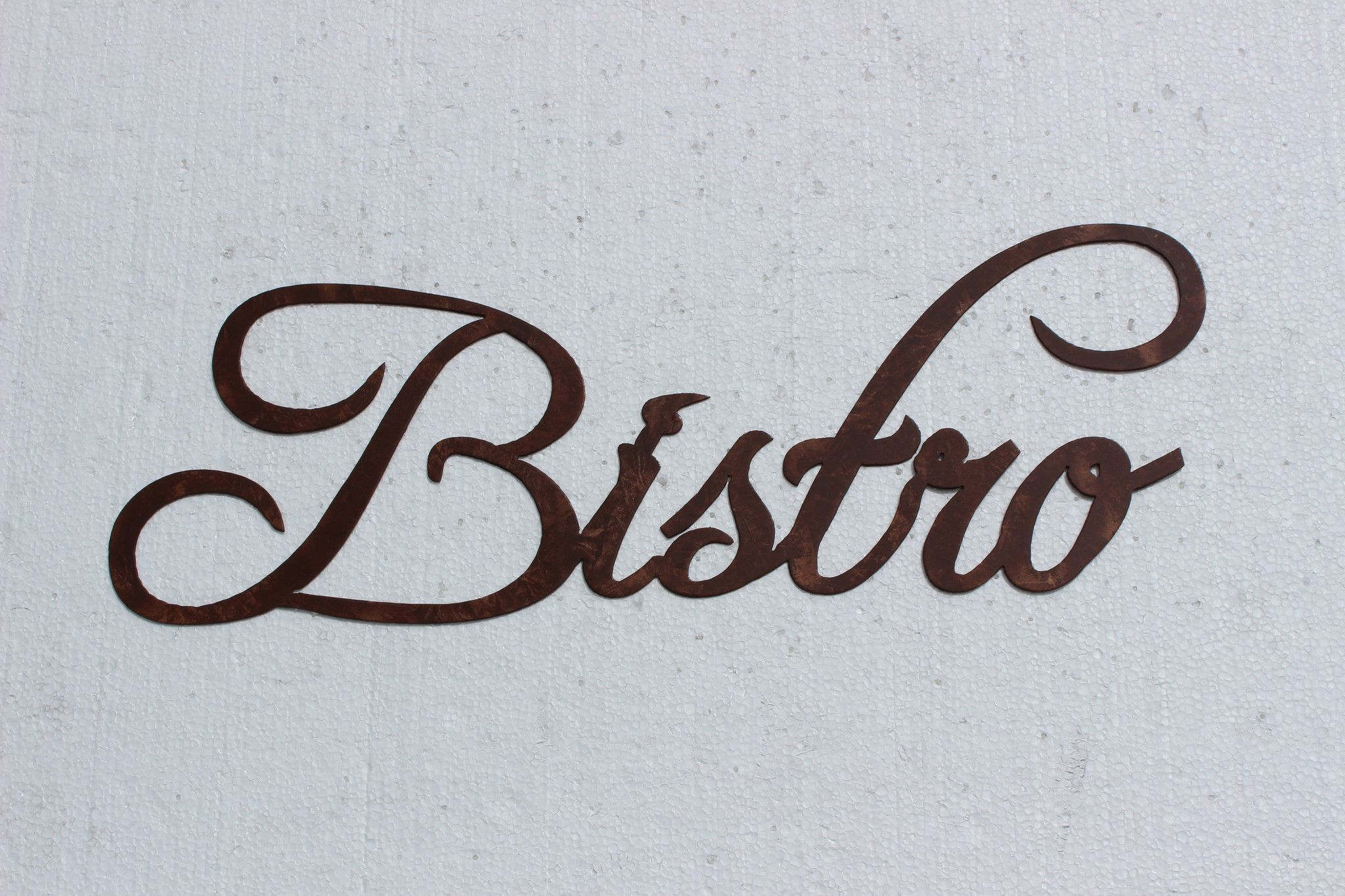 Bistro Word Kitchen Decor Metal Wall Art   Copper color, Metal wall ...