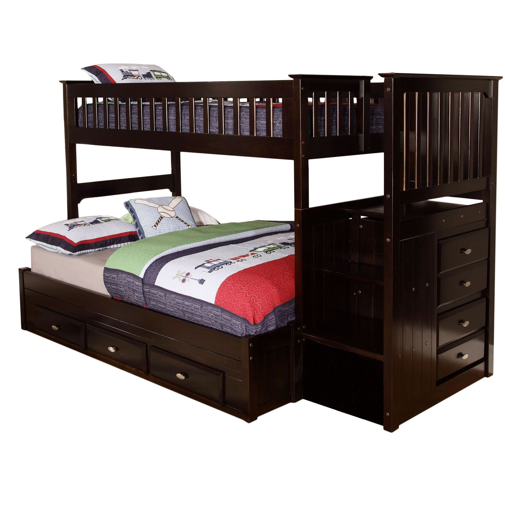 viv rae kaitlyn twin over full bunk bed interior redesign