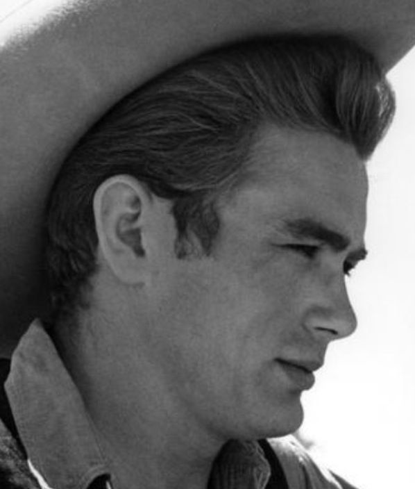 James Dean on location for Giant, 1955 by Sid Avery