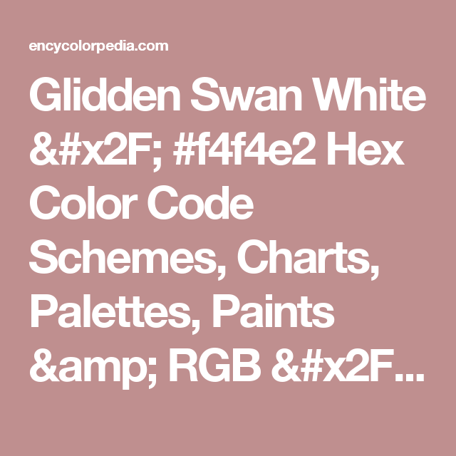 Shades Of White Color Chart