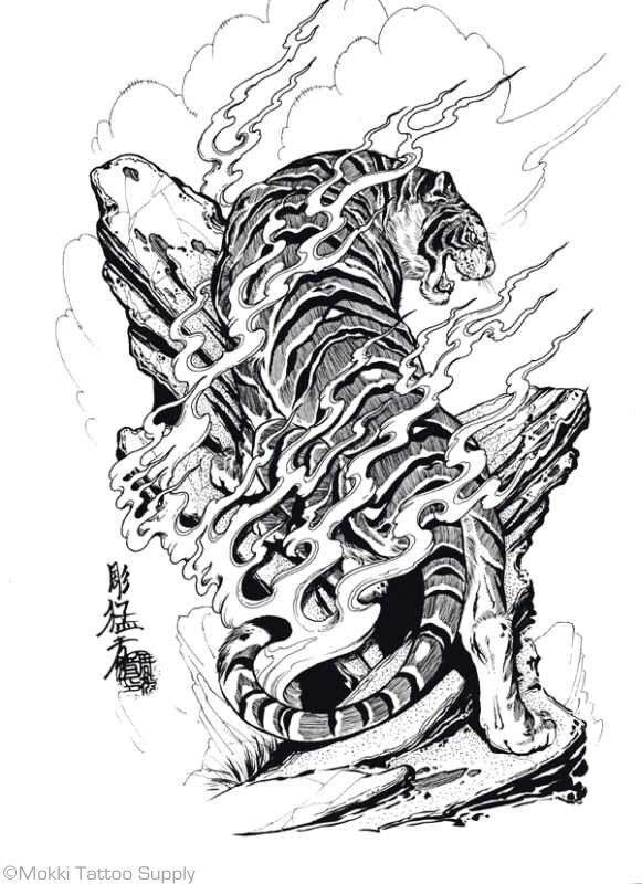 Tatuagem Oriental Orient Tattoo Koi Phoenix Queixa Dragon Japanese Tiger Tattoo Tiger Tattoo Design Japanese Tattoo Designs