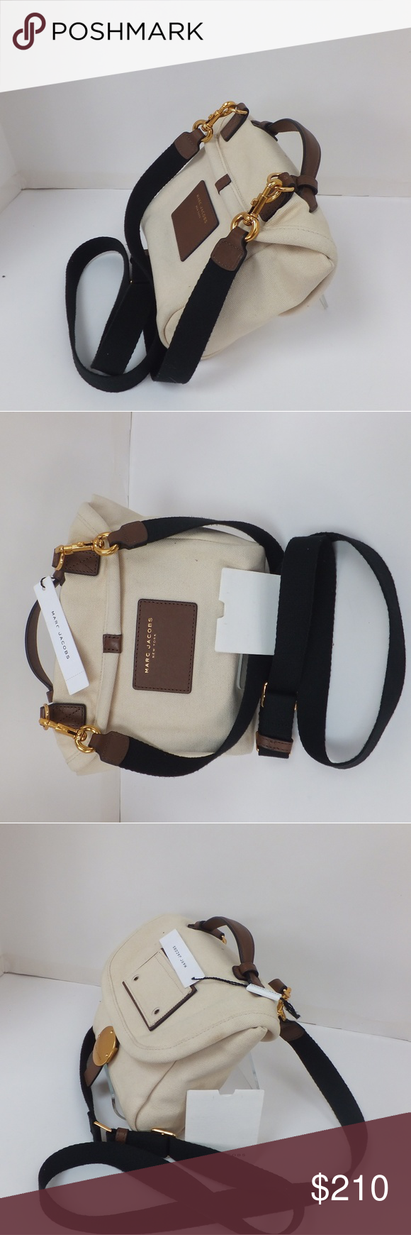 """Marc Jacobs?The Canvas Crossbody Marc Jacobs?The Canvas Crossbody  Dimensions  16"""" L x 6"""" W x 12"""" H (41cm x 16cm x 31cm)  Features ?Dual zip-top closures ?Front flap and slip pockets ?Kissing seams ?Collar pin detail ?Adjustable and convertible ?100% Cotton (Canvas)  ? Marc by Marc Jacobs Bags Crossbody Bags"""