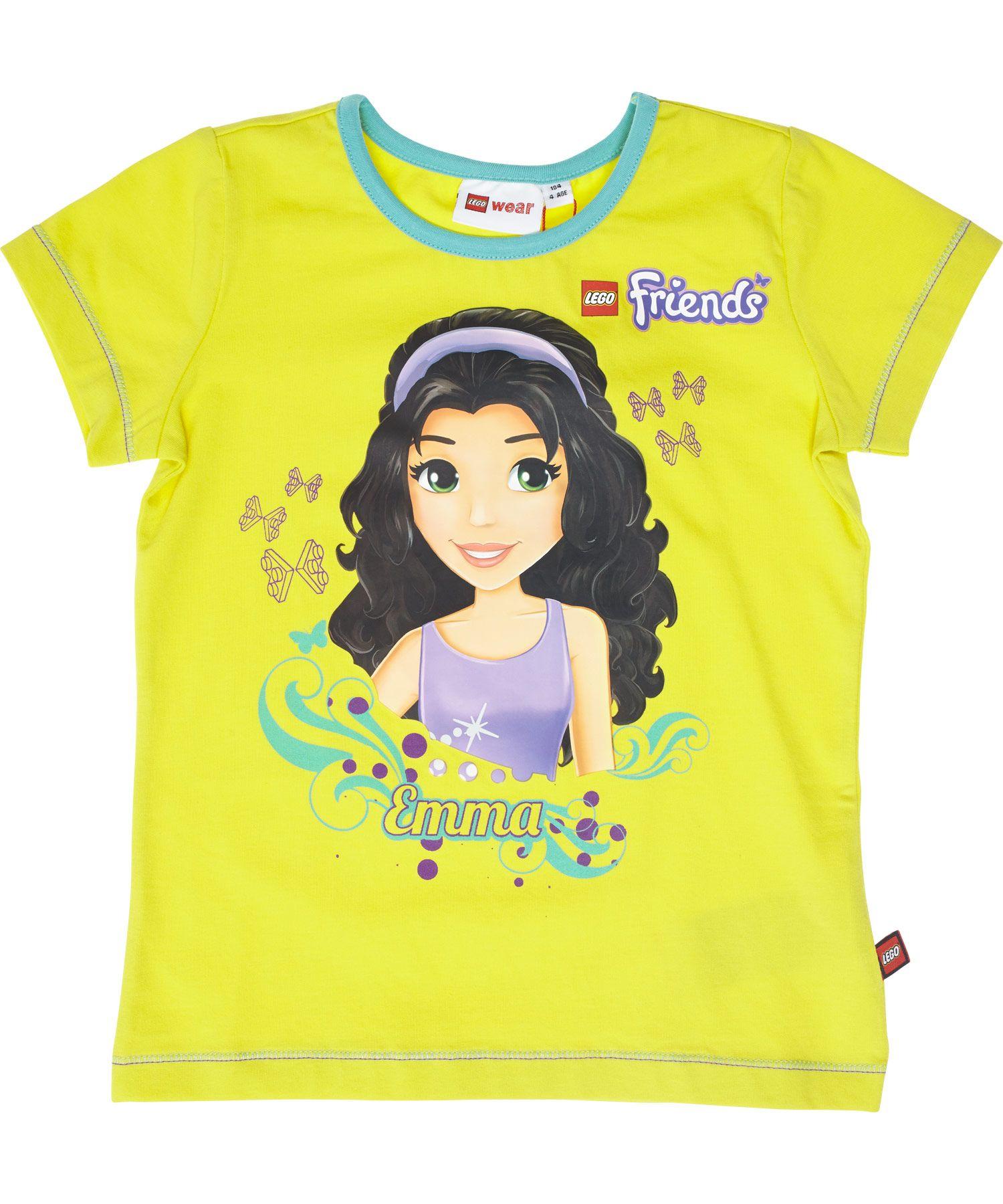 Nieuw Lego Friends Felgele T Shirt Voor Emma Fans Tasja Lego Friends Summer Tshirts Funky Kids