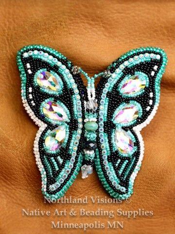 12678-beaded-hair-barret-seed-bead-butterfly-ojibwe-beadwork