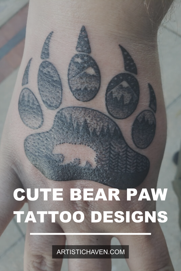 65 Cute Bear Paw Tattoo Designs & Ideas – Get Inspired in ...