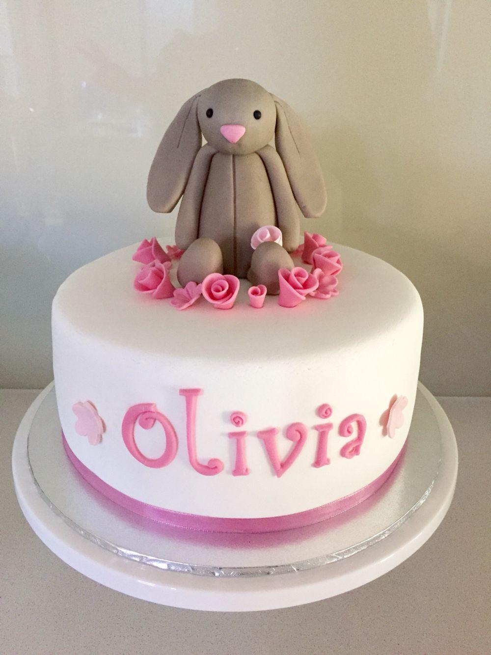 Jelly cat bunny cake Bunny birthday cake, Birthday cake