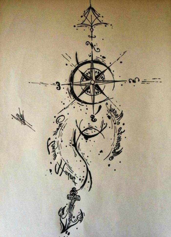 Photo of ▷ 142+ idées et images inspirantes sur Compass Tattoo!