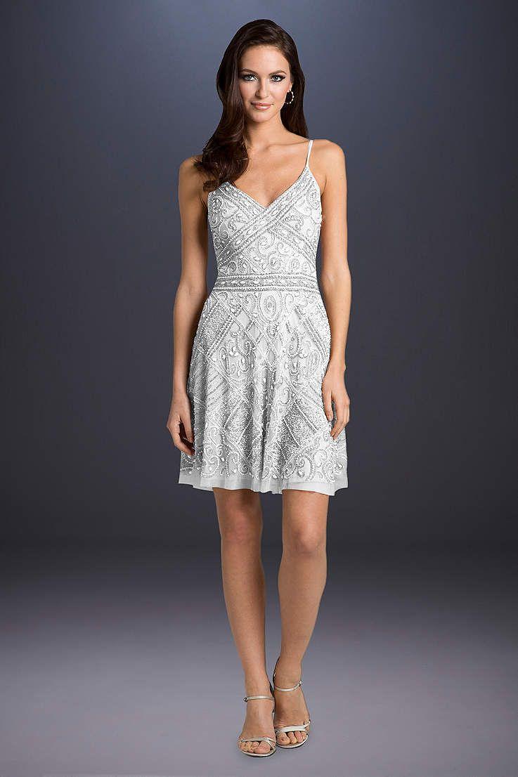 1926607efde View Spaghetti Strap Short Wedding Dress at David s Bridal