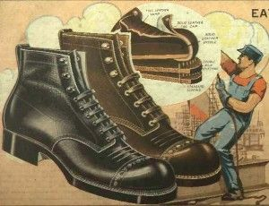Mens 1920s Shoes History and Buying Guide | Mens work boots and 1920s