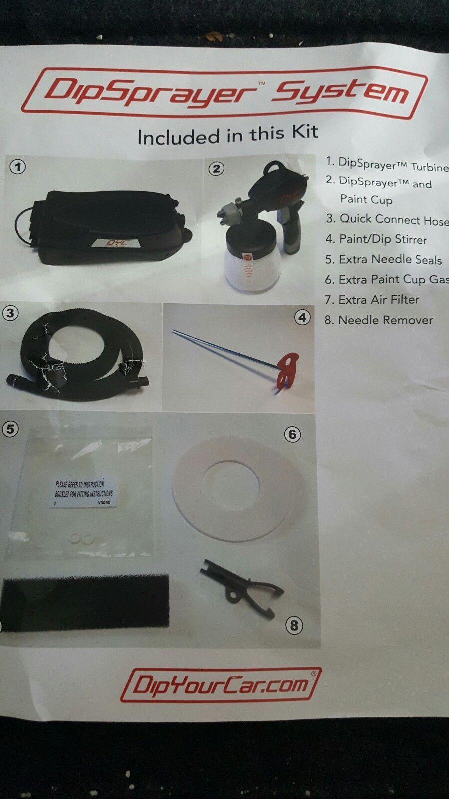 Dyc Dipsprayer System Gun 4 Plasti Dip Rubber Coating By