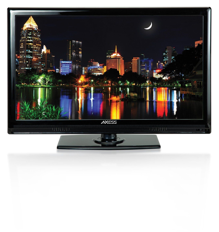AXESS 24 LED AC DC TV Full HD HDMI USB Digital Analog Tuner Remote