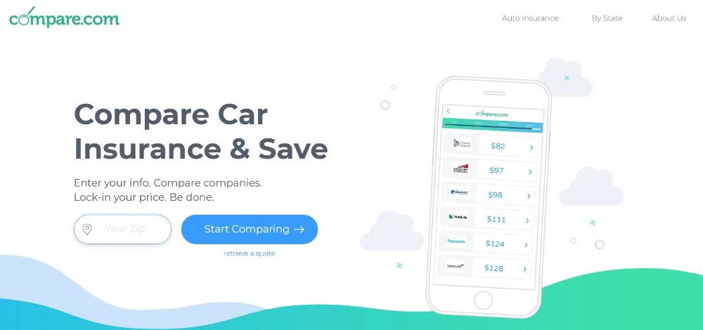 lets you compare 60+ car insurance carriers