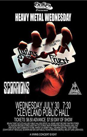 judas priest concert poster concert