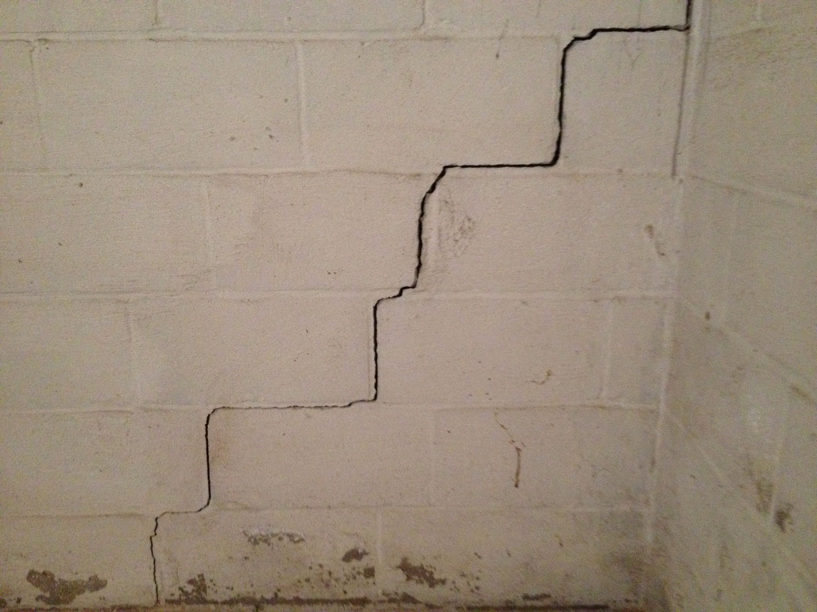 Elegant Hairline Cracks In Basement Walls