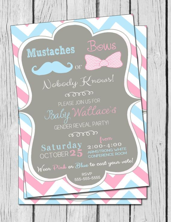 Gender Party Invitations