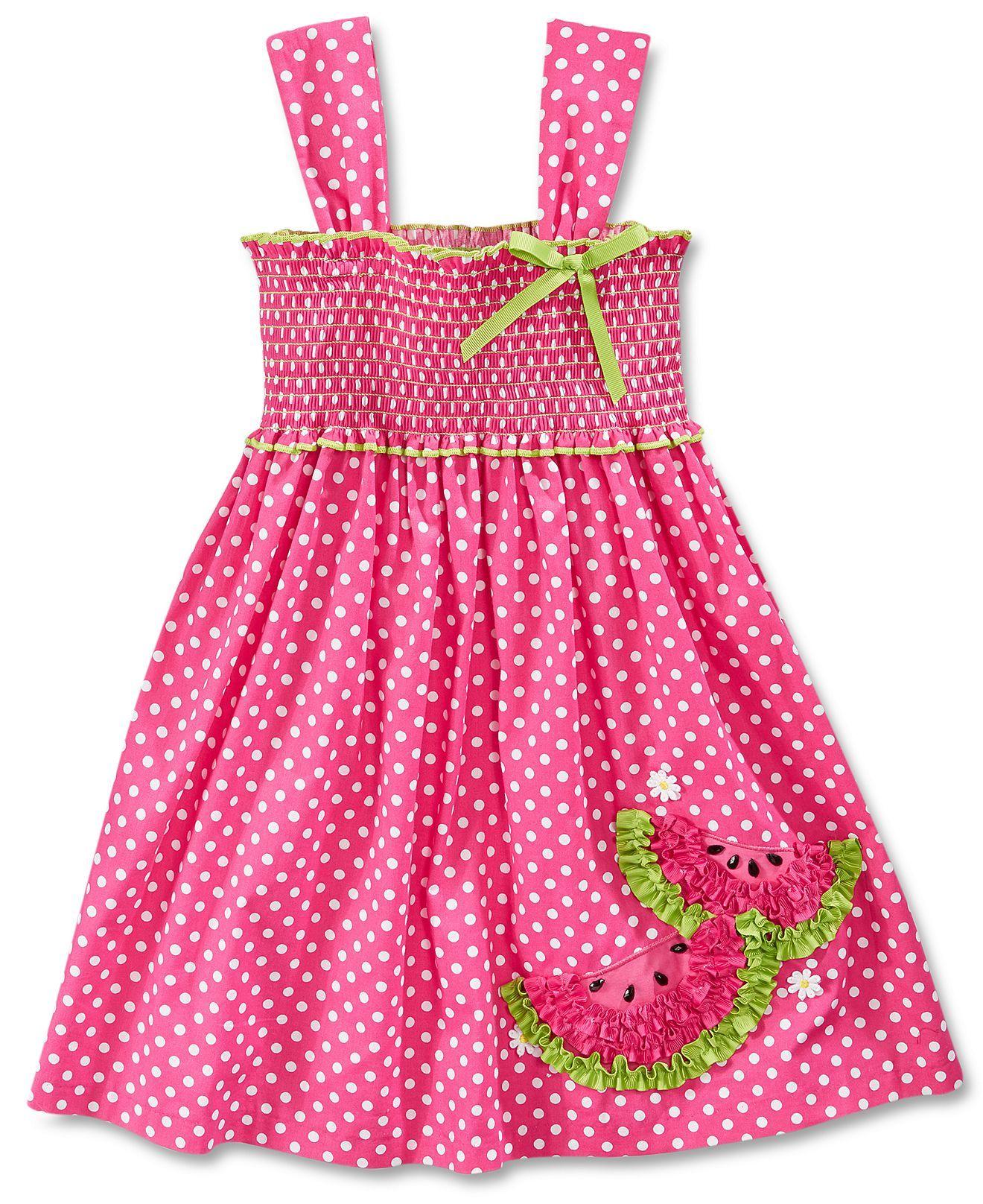 571b4db872d5 Bonnie Jean Little Girls  Dotted Smocked Sundress - Kids Dresses    Dresswear - Macy s