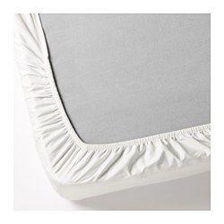 IKEA - DVALA, Muotoonommeltu lakana, 90x200 cm, , Puuvillaa, joka tuntuu mukavan pehmeältä ihoa vasten.Kuminauhareunan ansiosta sopii patjoihin, joiden enimmäiskorkeus on 26 cm.