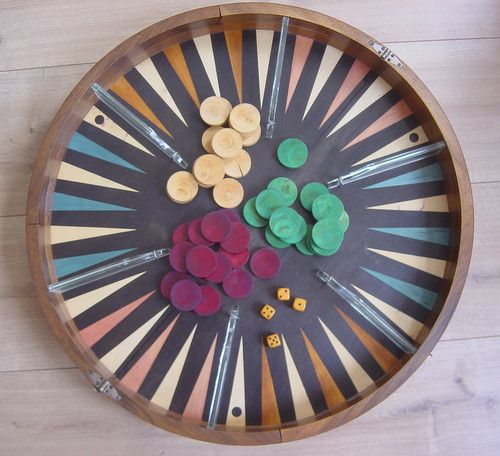 Super antique round very rare art deco back gammon special box vintage art deco round backgammon box publicscrutiny Choice Image