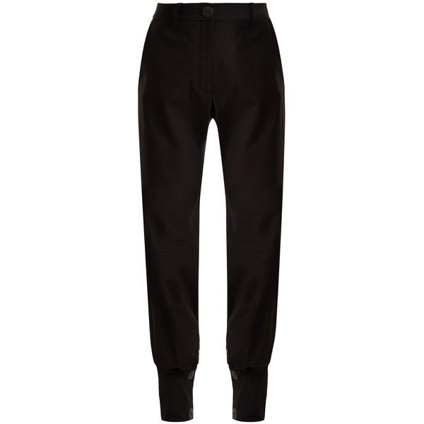 Sale Enjoy Cheap With Mastercard button cuff trousers - Black J.W.Anderson Sale Cheap Prices Footaction Cheap Online amLL6WLJ