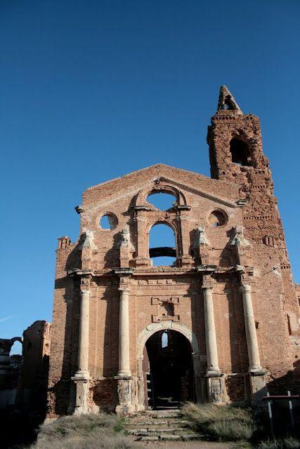 """Espa±a Arag³n Zaragoza """"Pueblo Viejo de Belchite"""" pueblo"""