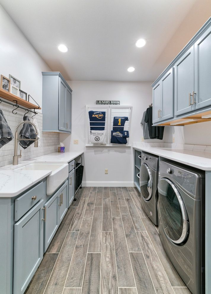 Laundry Room Cabinet Ideas With Blue Green And Gray Colors Blue