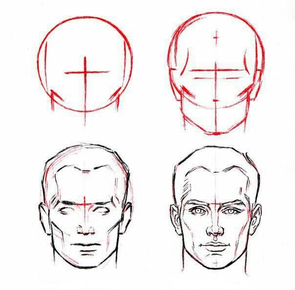 How To Draw Face Man