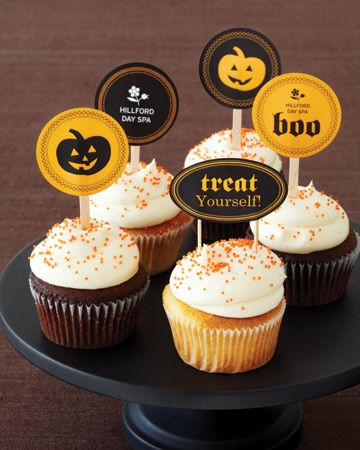 spooky cupcake toppers spooky delights (Halloween inspired - decorating ideas for halloween cupcakes