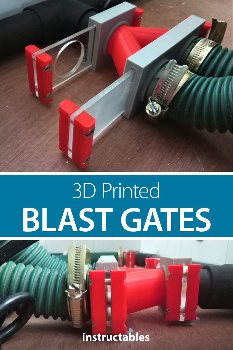3D Printed Blast Gates for Dust Collection