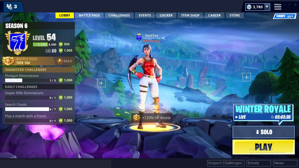 Fortnite Acc W Season 2 3 Free And 4 5 6 Max Battle Passes And Save
