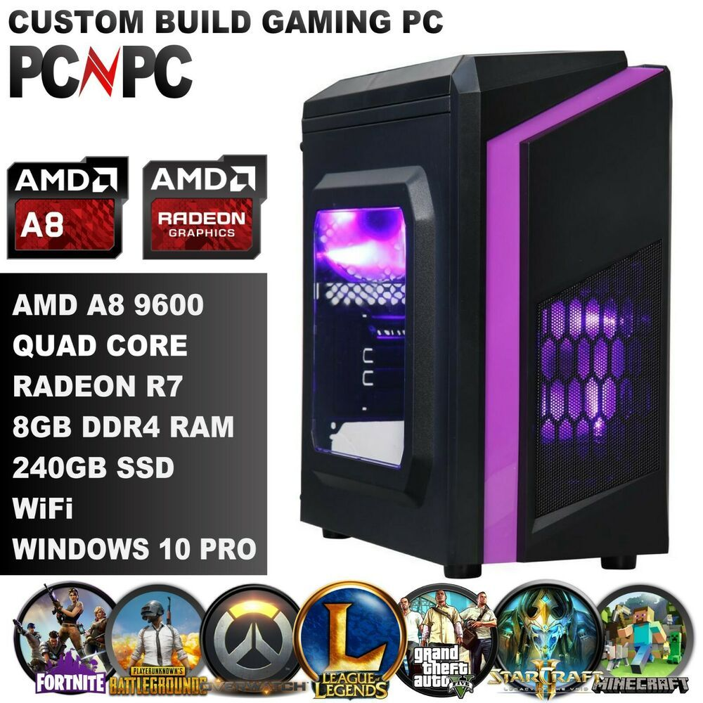 Custom Gaming Pc Amd Quad Core A8 8gb Memory 240gb Ssd Fortnite Gta5 Ready Fortnite Fortnitebattleroyale Live Gaming Pc Quad Fortnite