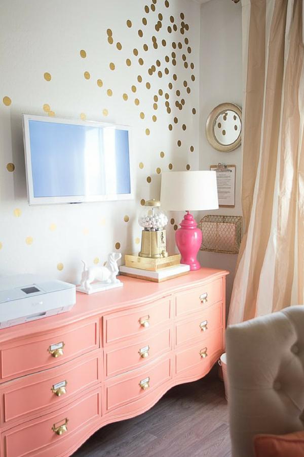 Polka dot wall decals vinyls circles and polka dot wall - Quotes for a teenage girl s bedroom wall ...