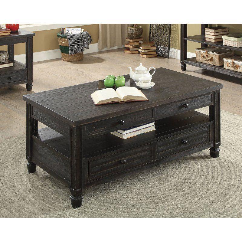 35+ Wayfair black coffee table with storage ideas