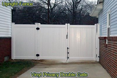 vinyl fence double gate. Wood Fences, Vinyl, Steel, And Aluminum Fencing By Upright Fence Of Westland Michigan Vinyl Double Gate P