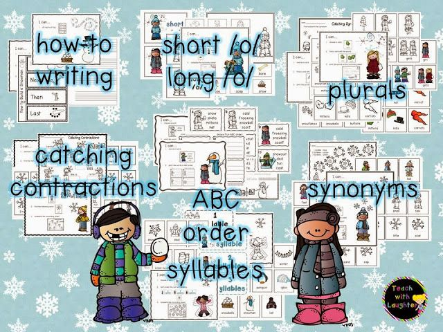 Teach With Laughter: Winter Literacy Stations