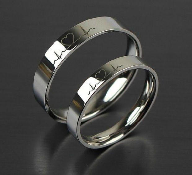 1pcs Free Engraving Purple Titanium rings sets, Love Token Couple ...