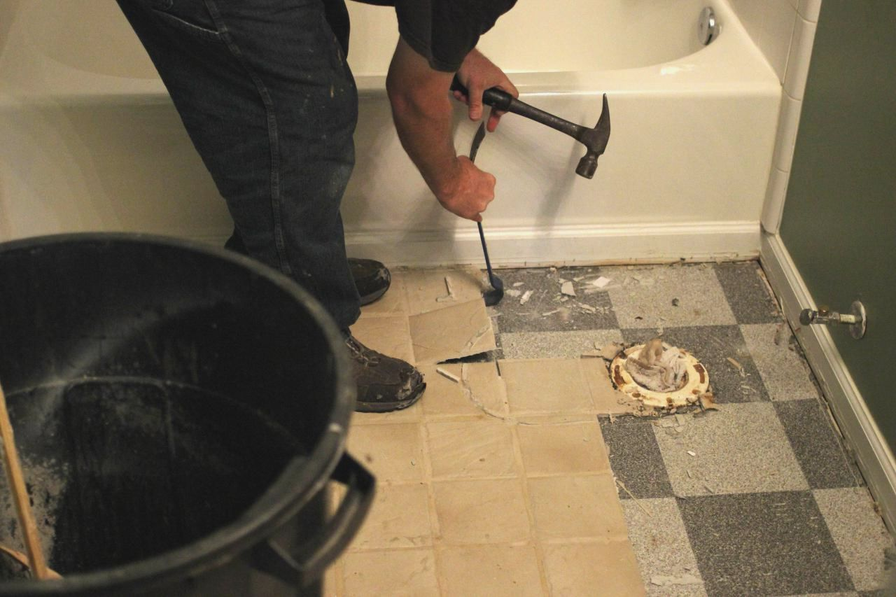 How to remove floor tiles in bathroom you could be