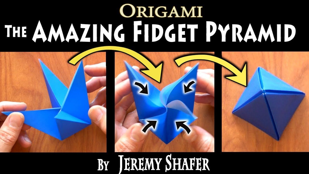The Amazing Fidget Pyramid Ms Origami Favorites Diagram Dinosaur Create Stunning Models On Your