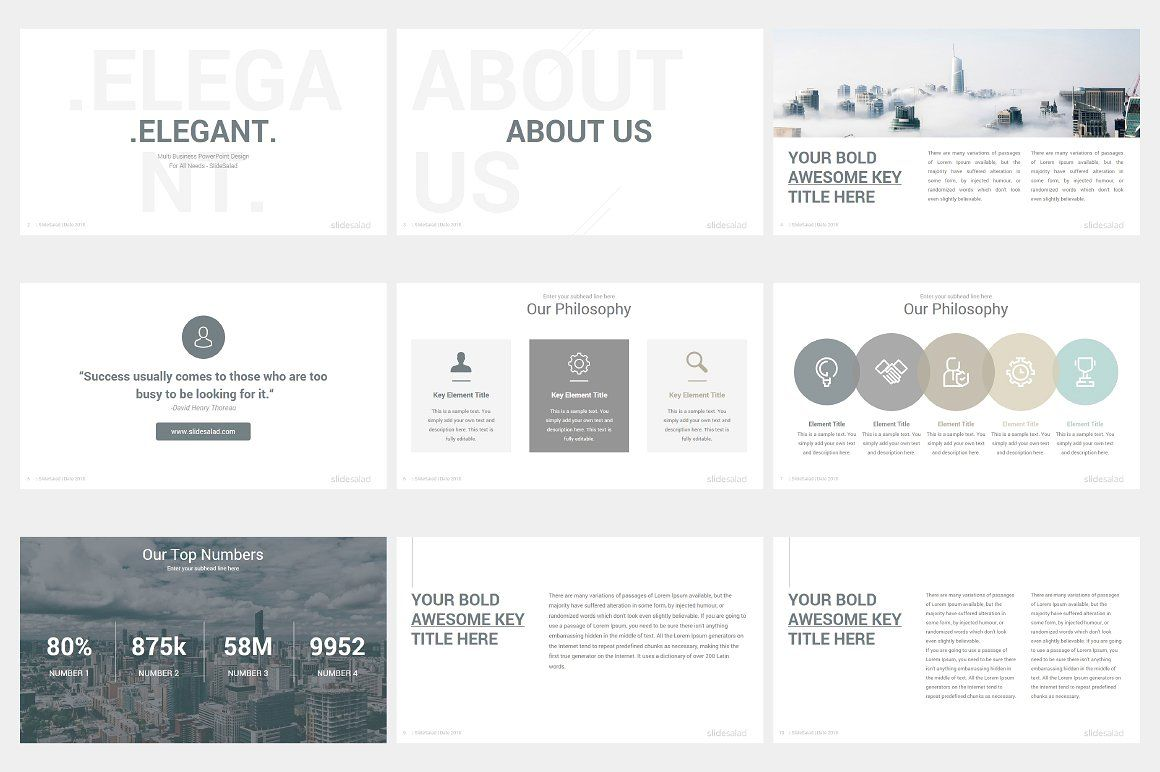 Elegant Powerpoint Template Pack Powerpoint Templates