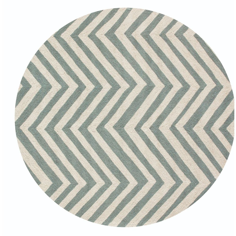 NuLOOM Handmade Alexa Chevron Wool Round Rug Round)   Overstock™ Shopping    Great Deals On Nuloom Round/Oval/Square