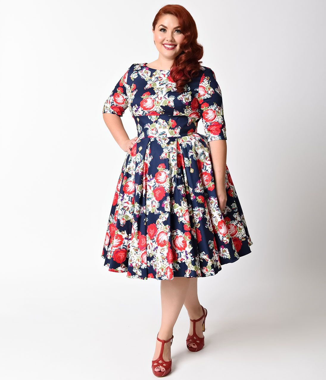 Plus Size Vintage Dresses, Plus Size Retro Dresses in 2019 | 1940s ...