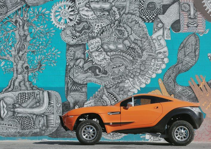 Downtown Las Vegas Street Art | Local Motors Rally Fighter | Local Motors Las Vegas