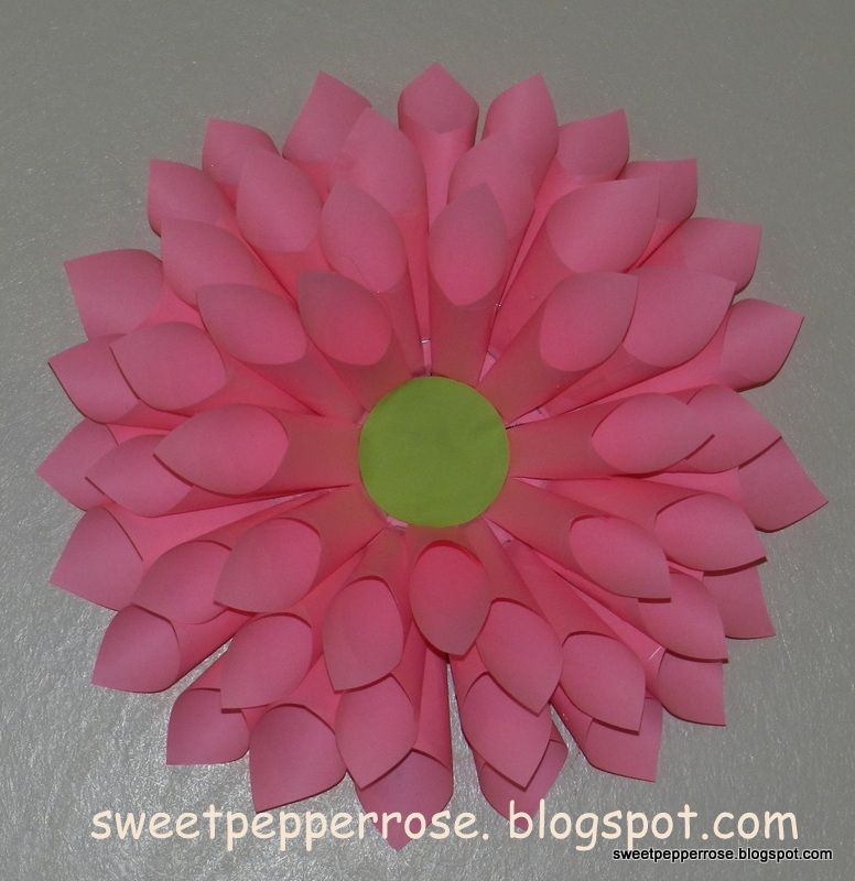 22 post it crafts post it art pinterest big flower and birthdays how to make a big pink flower out of paper i think a few of these would be really cute for a little girls birthday party mightylinksfo