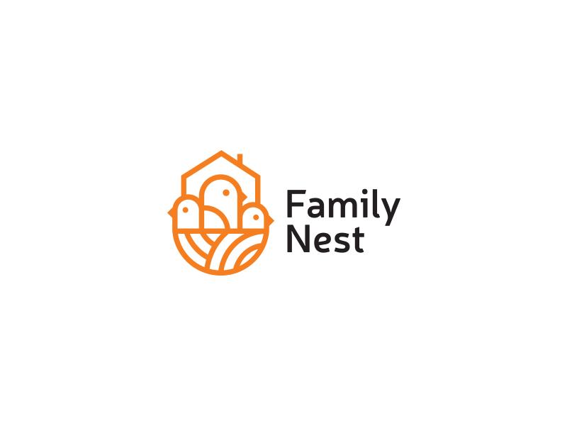 Family Nest Logo Design Nest Logo Family Logo