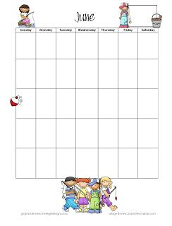 Monthly Programmable Calendars~ Great for School Newsletters